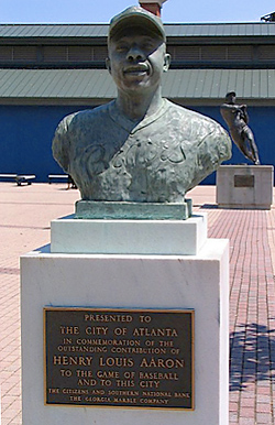 Hank Aaron Bust in Monument Grove