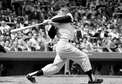 Micky Mantle batting right handed