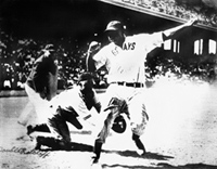 Josh Gibson safe at Home