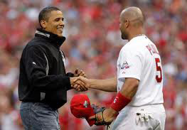 Albert Pujols and President Obama