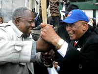 Hank Aaron and Ernie Banks