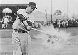 ted williams destroys things with his bat